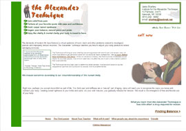 website of Alexander Technique practitioner