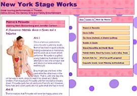 Website of New York Stageworks
